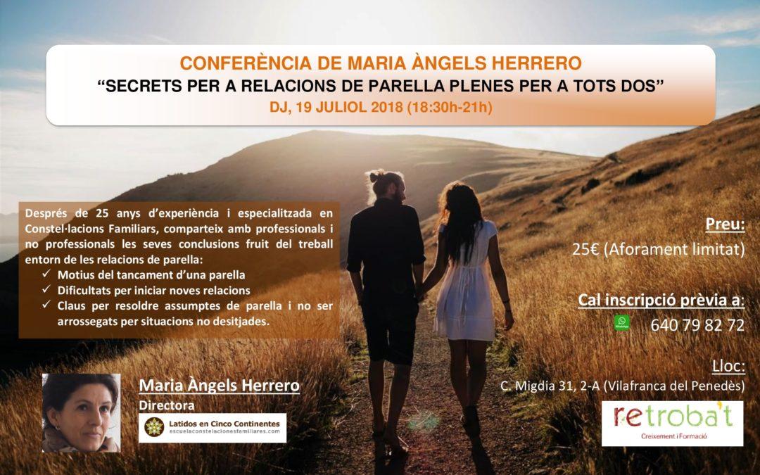 """Conferència """"Secrets per a relacions de parella plenes per a tots dos"""""""